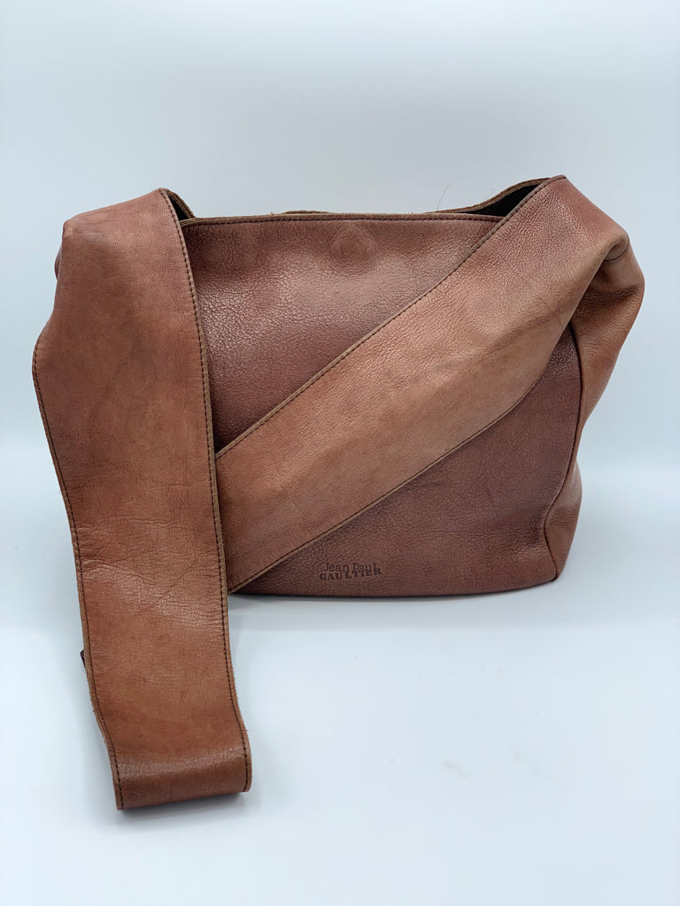Jean Paul Gaultier Brown Leather Crossbody