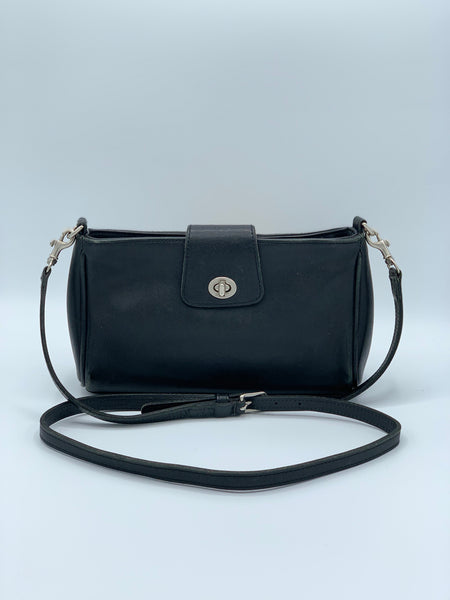 Black Leather Coach Crossbody