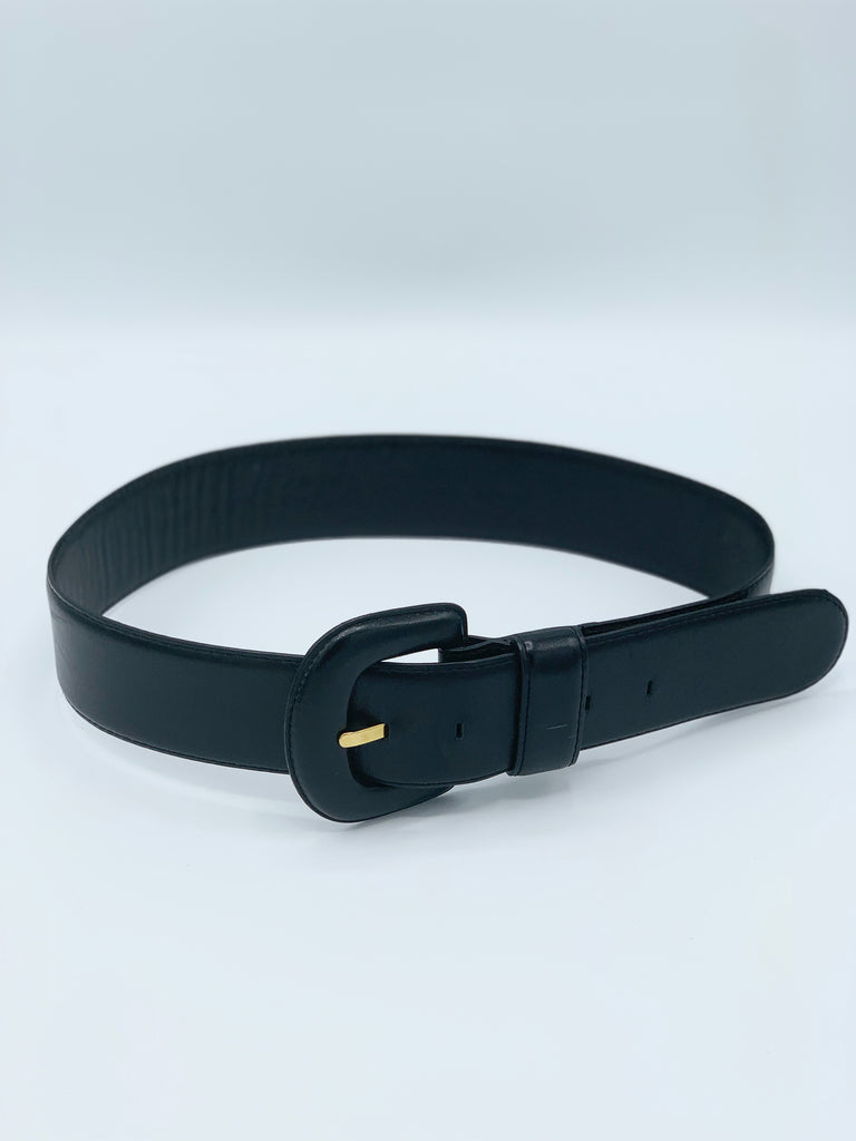 Buttery Soft Black Leather Belt