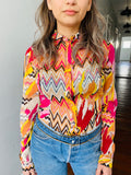 M Missoni Multicolor Zig Zag Shirt