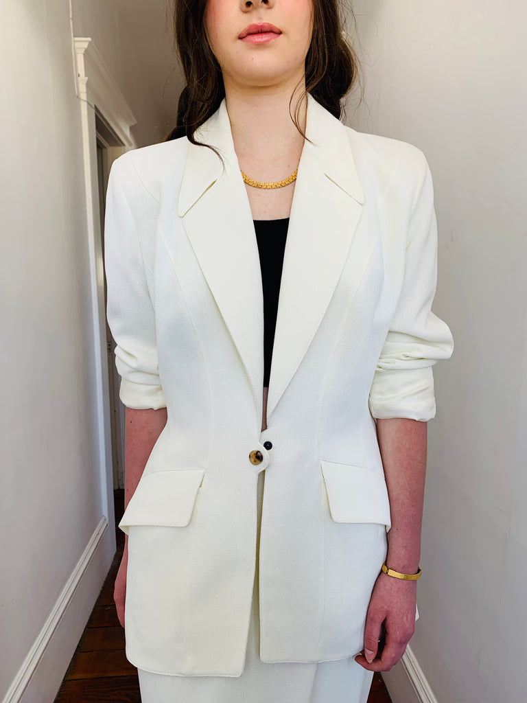 MUGLER Ivory 2pc Skirt Suit