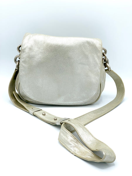 DKNY Metallic Leather Crossbody