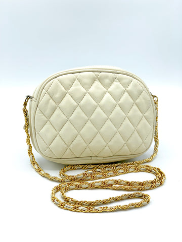 Quilted Leather Mini Crossbody