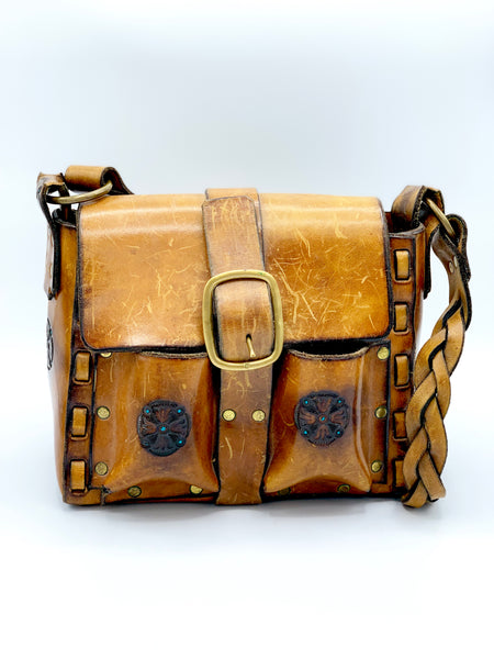 Mexican Tooled Leather Bag
