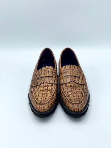 Donald J Pliner Reptile Loafers