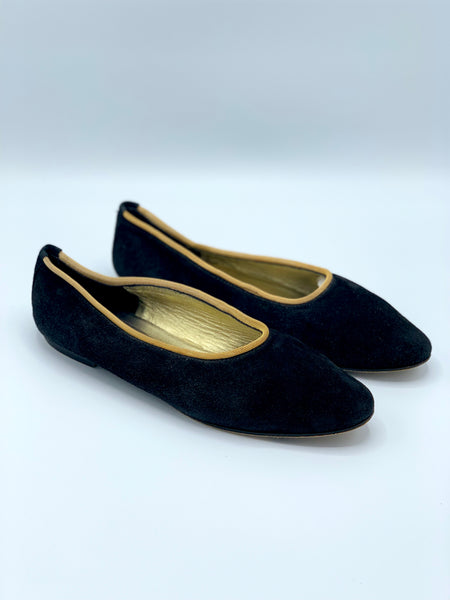 Joan & David Suede & Chain Flats