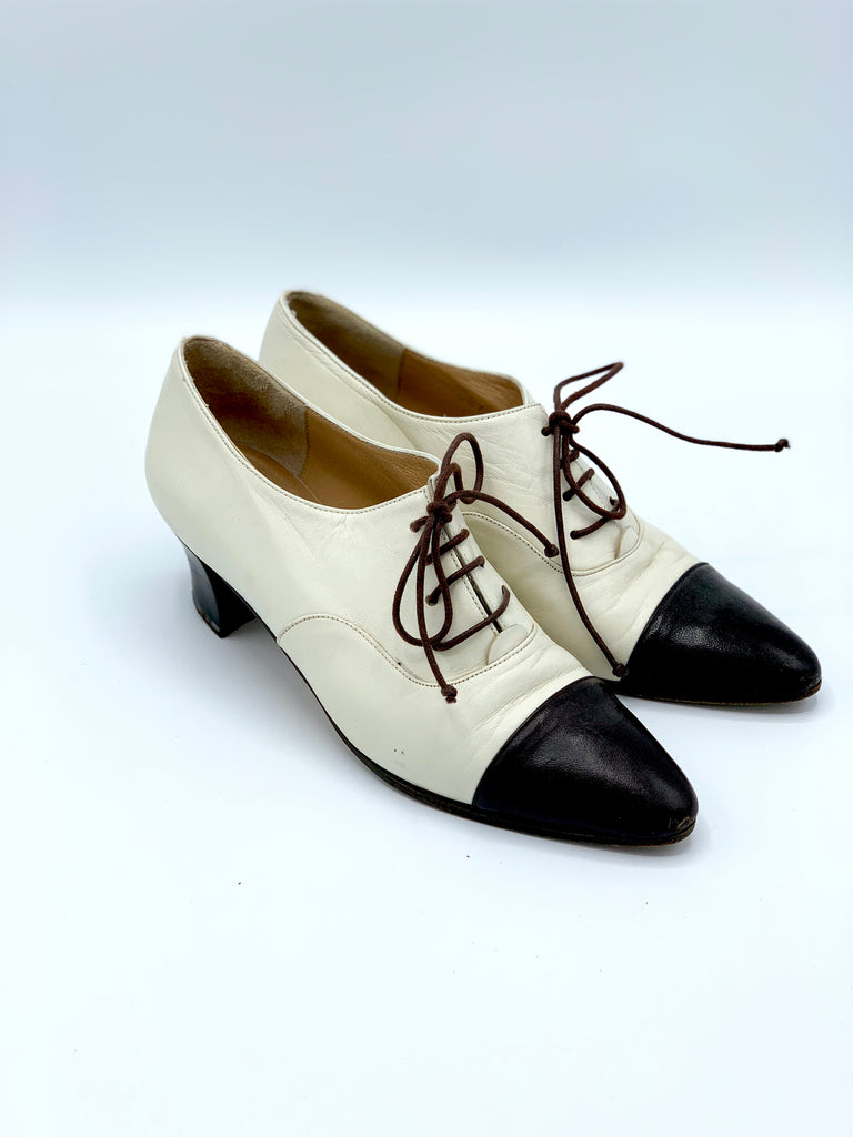 Two-tone Heeled Oxford