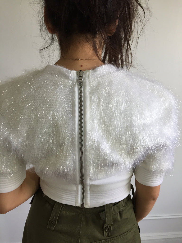 Alexander | Iridescent Cropped Blouse