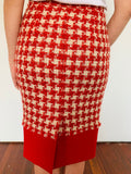 Moschino Cheap and Chic Houndstooth Textured Pencil Skirt