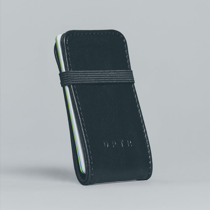 CLAMSHELL WALLET . BLACK