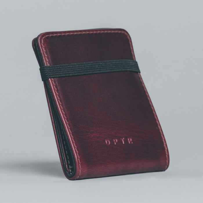 LIQUID WALLET . OXBLOOD