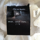 Haut Anthony Vaccarello Blanc T.36