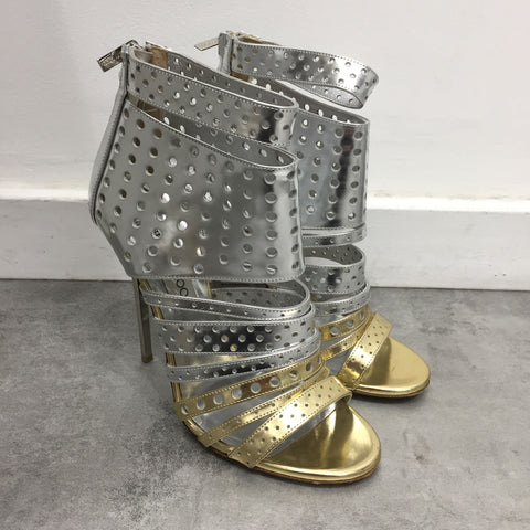 Boots Jimmy Choo argents T.38,5
