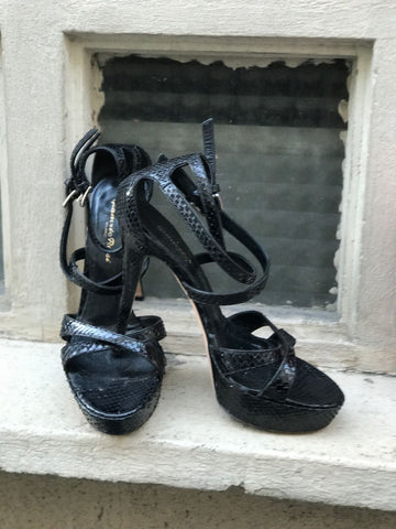 Sandales Gianvito Rossi Python T.37,5
