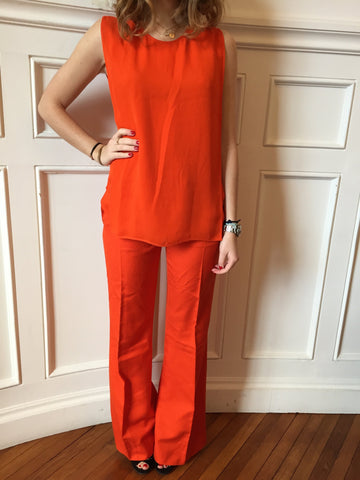 Pantalon Stella McCartney Orange T.36