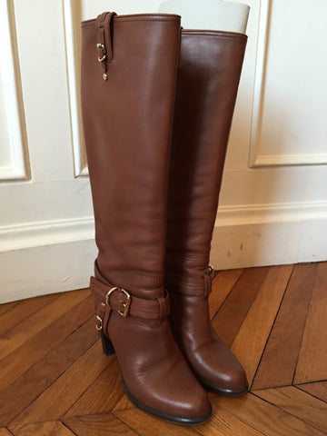 Bottes Christian Dior Marrons T.36