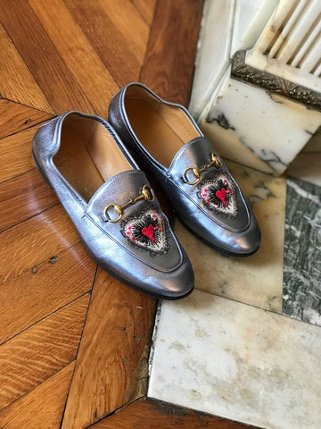 Mocassins Gucci bleus T.36 IT