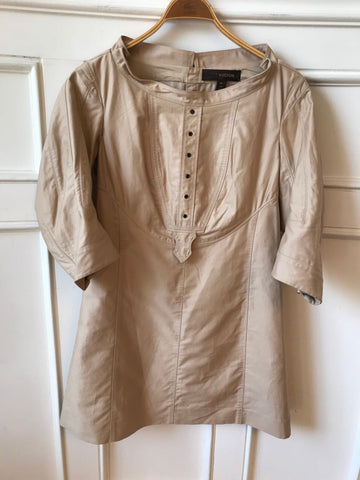 Robe Louis Vuitton beige T.38