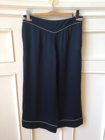 Pantalon Louis Vuitton bleu T.40
