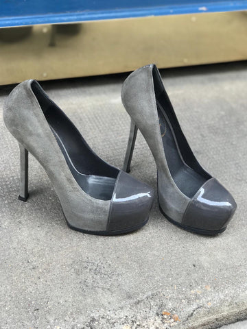 Escarpins Yves Saint Laurent gris T.38