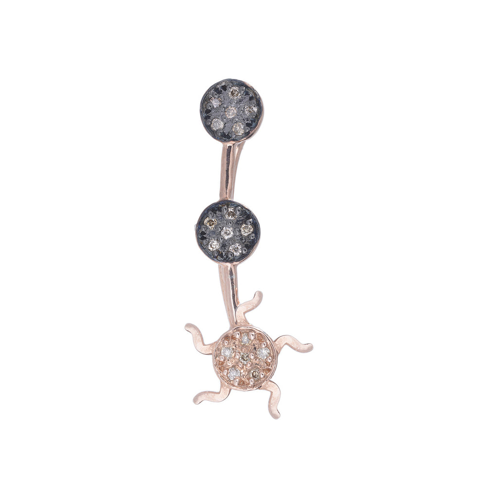 Full Moon Sun Ear Cuff