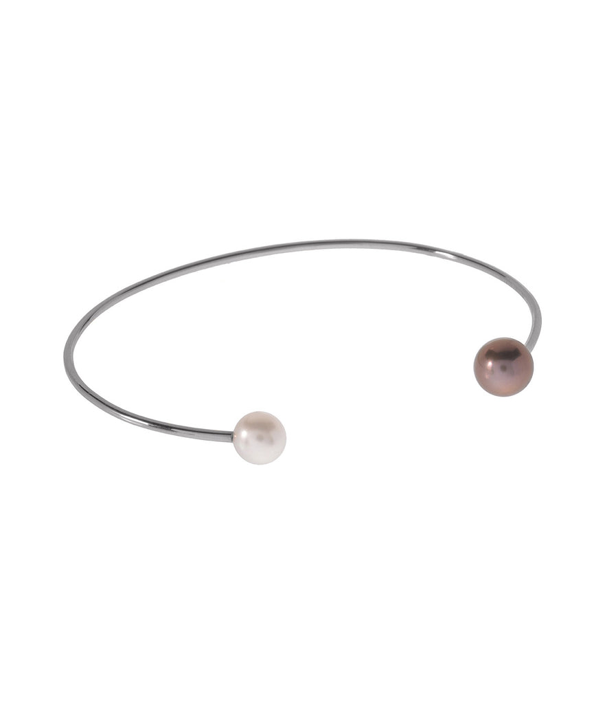 Two Pearl Bangle