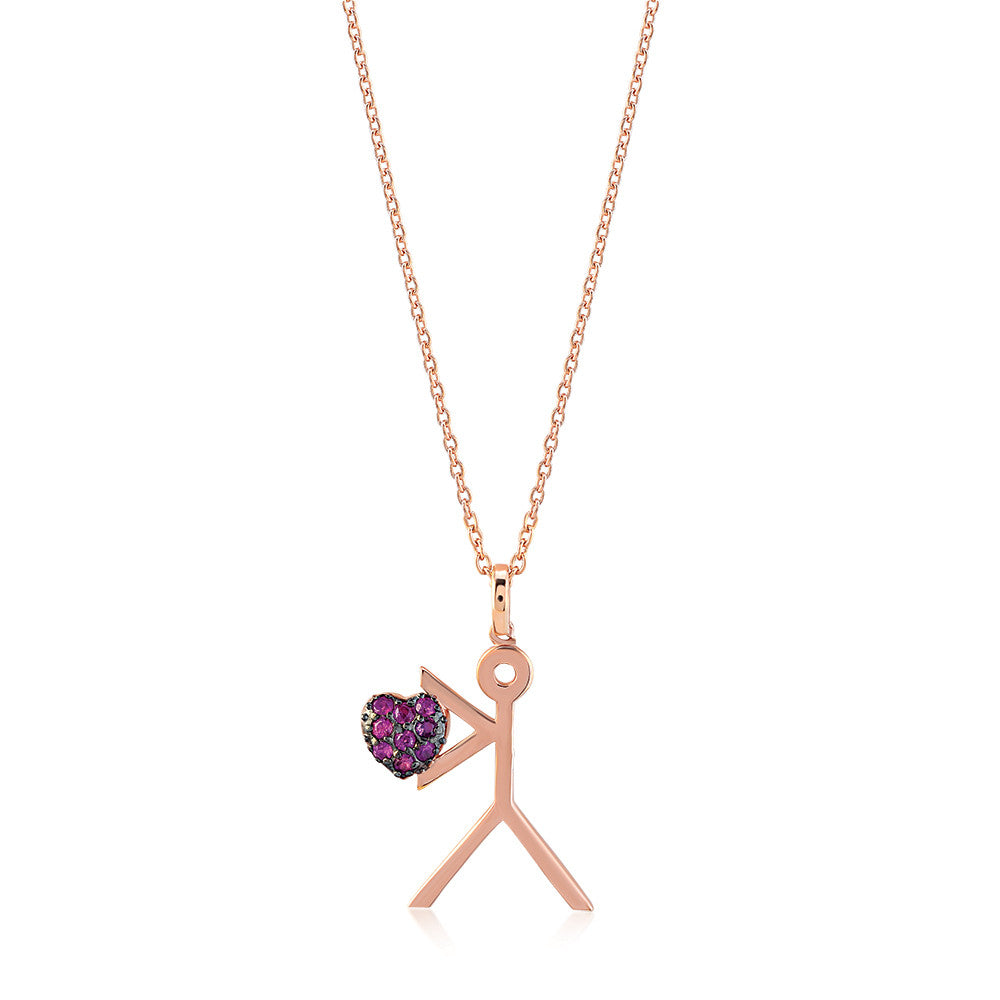 Hangman Heart Necklace