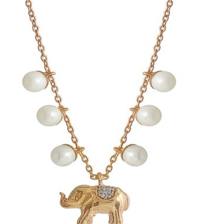 Elephant Pearl Necklace