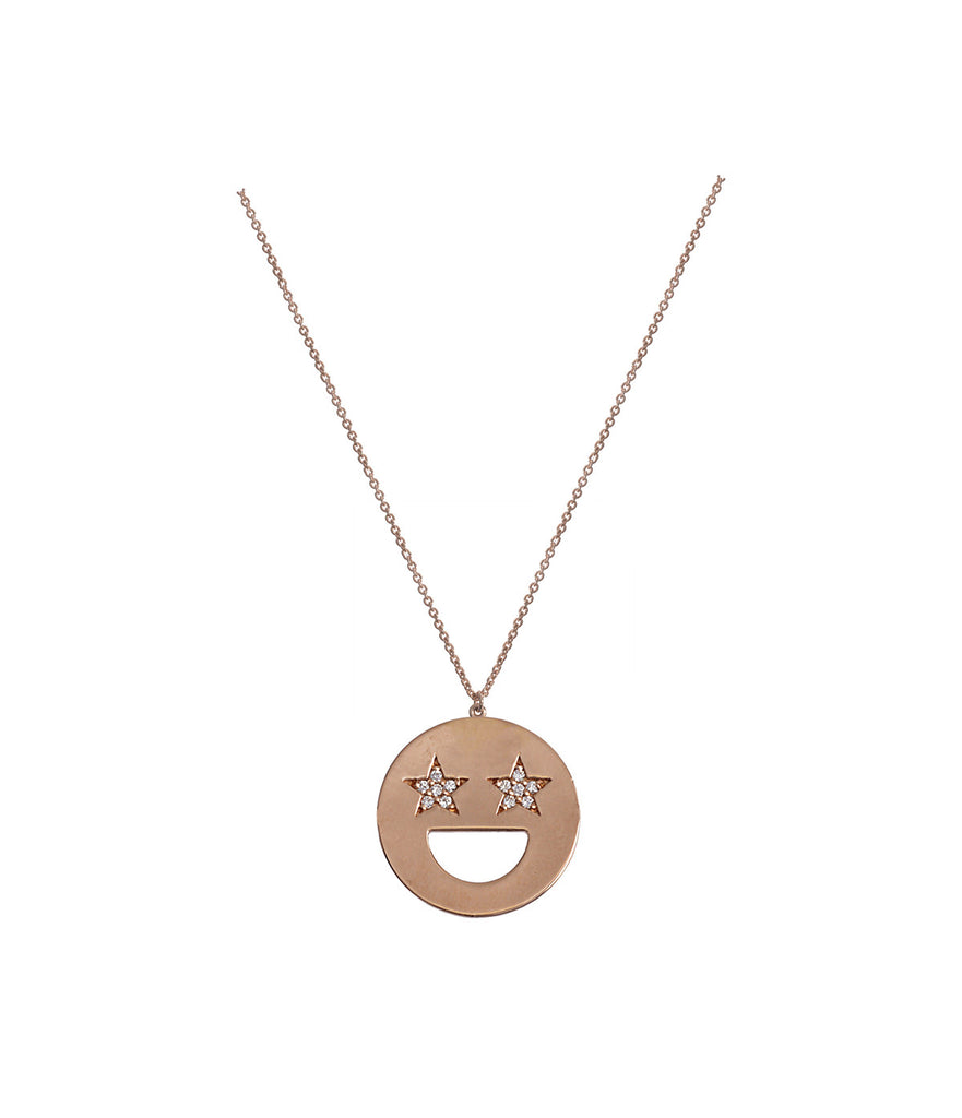 Star Eye Emoji Necklace