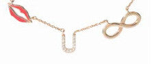 Lip U Infinity Necklace