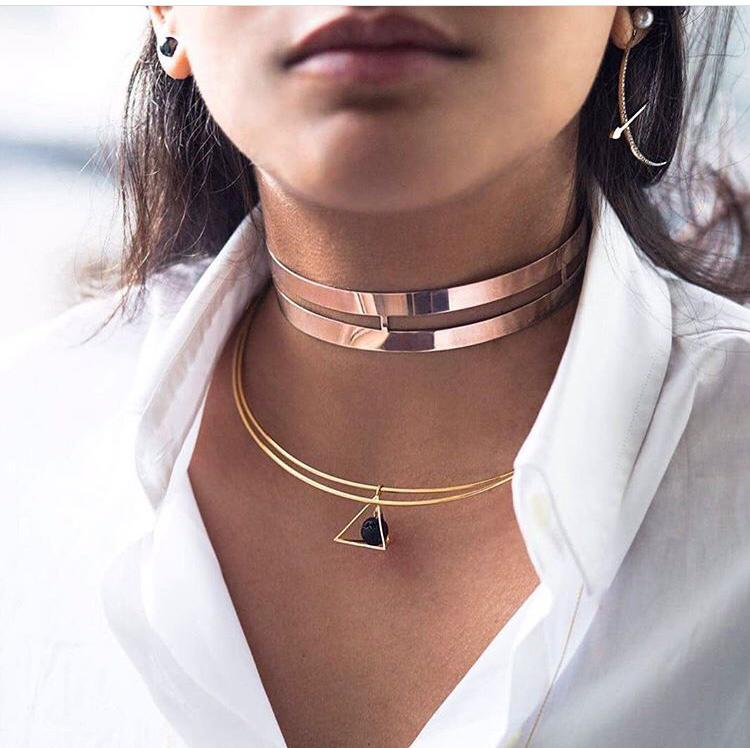 Pyramid Double Choker