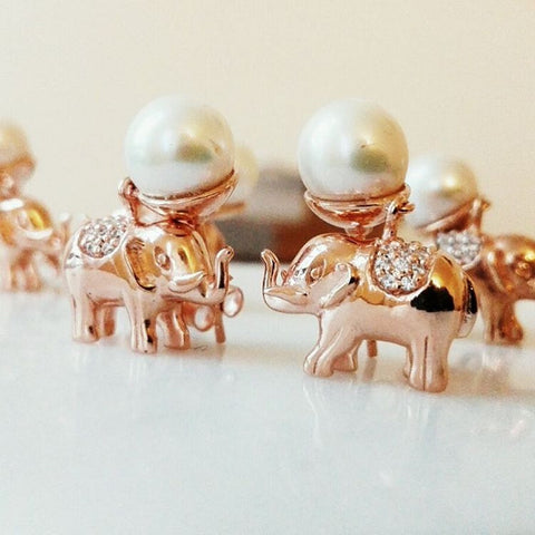 Elephant Pearl Earrings