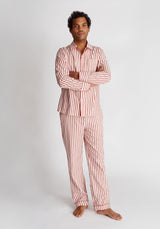 SLEEPY JONES | Henry Pajama Set Red & Cream Breton Stripe