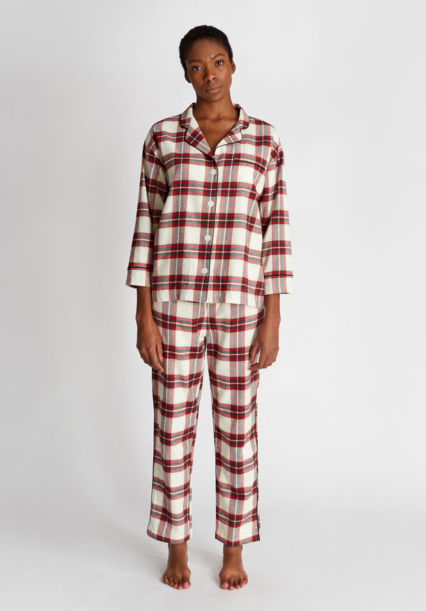 SLEEPY JONES | Marina Pajama Set Gift Wrap Flannel