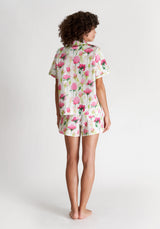 SLEEPY JONES | Corita Set White, Pink & Green Rose Print
