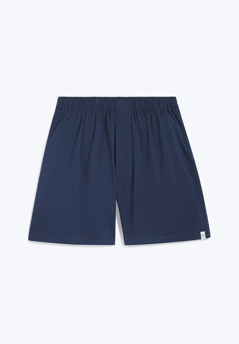 SLEEPY JONES | Gus Boxer Faded Navy Solid Jersey