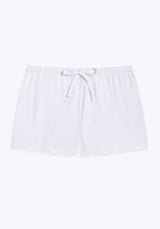 SLEEPY JONES | Knit Paloma Short White Solid Jersey