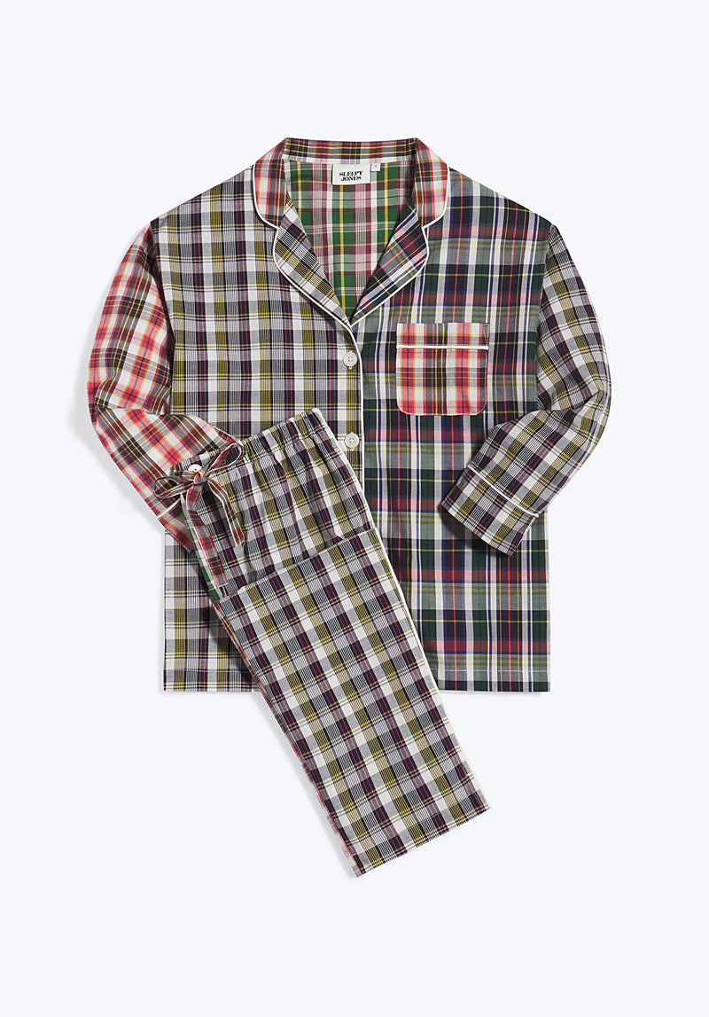 SLEEPY JONES | Marina Pajama Set Multi Madras Fun Set