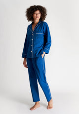 SLEEPY JONES | Knit Marina Pajama Set French Blue Solid Jersey