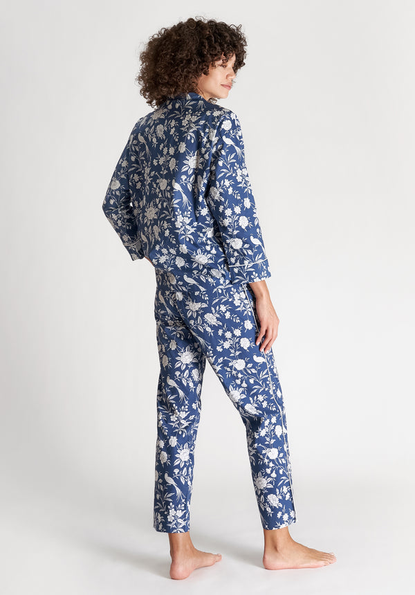 SLEEPY JONES | Marina Pajama Set Indigo Wallpaper Floral