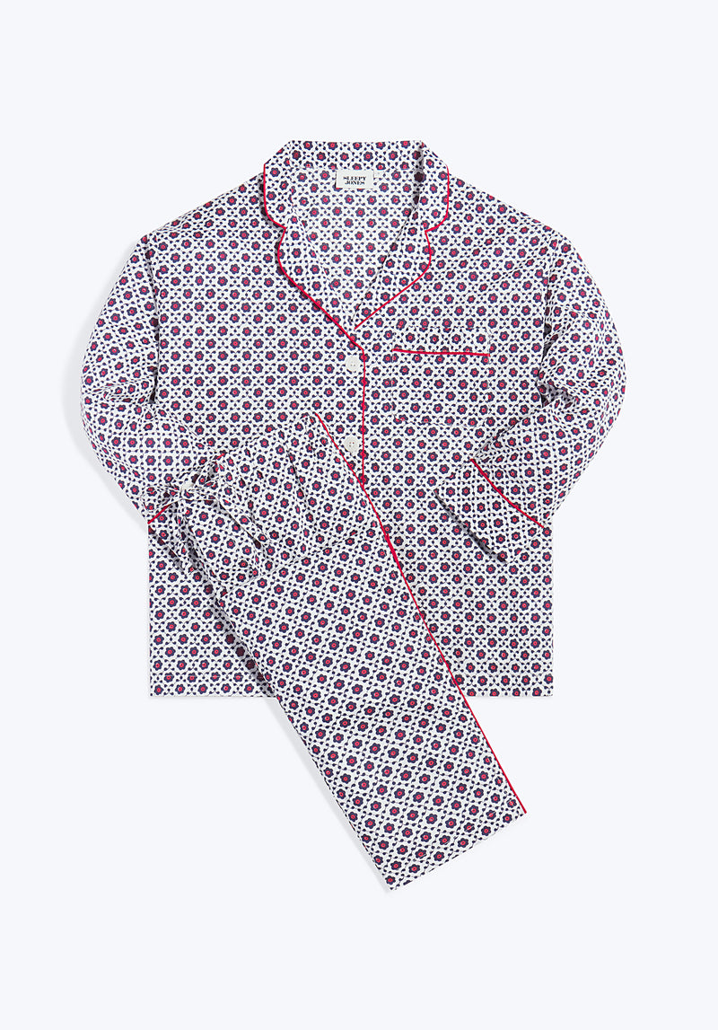 SLEEPY JONES | Marina Pajama Set Red, White & Blue Block Print