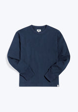 SLEEPY JONES | Max Lounge Shirt Faded Navy Soft Rugby