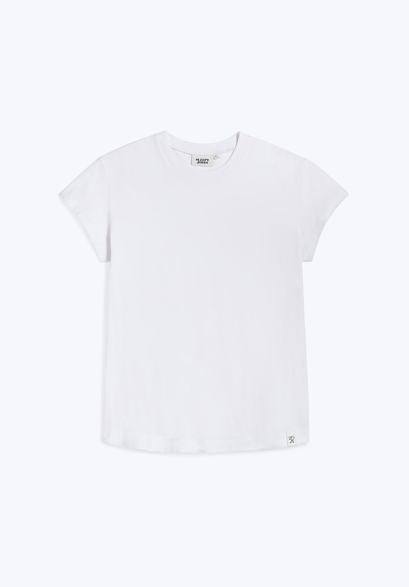 SLEEPY JONES | Pickford T-Shirt White Solid Jersey