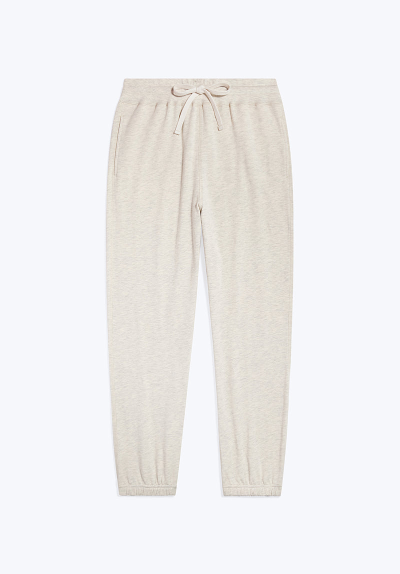 SLEEPY JONES | Tracey Sweatpant Oatmeal Heather Loop Back Jersey