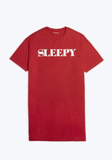 SLEEPY JONES | Sleepy Night Tee Solid Red Jersey