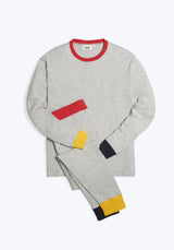 SLEEPY JONES | Helen Lounge Set Color Block Heather Grey