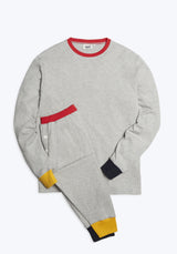 SLEEPY JONES | Keith Lounge Set Color Block Heather Grey