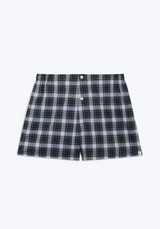 SLEEPY JONES | Jasper Boxer in Green, Blue & White Stewart Plaid