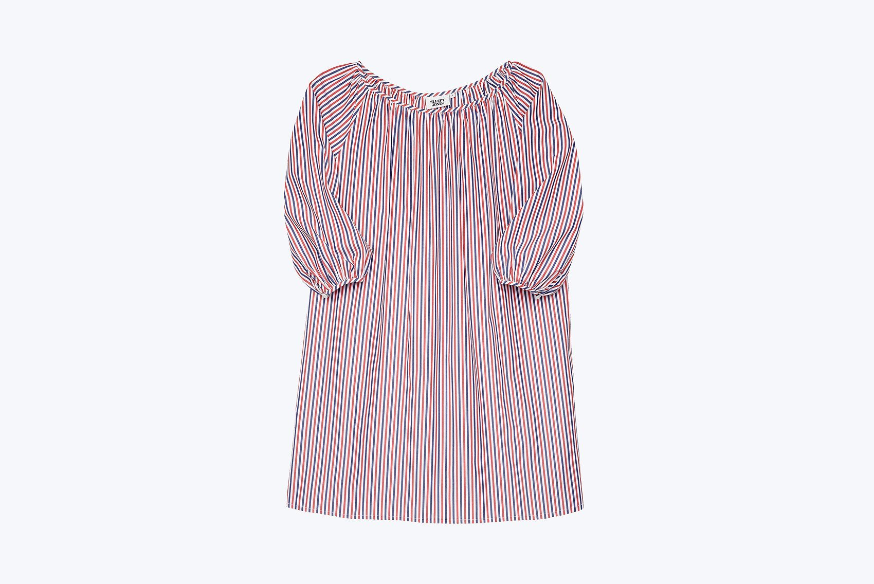 Lily Night Dress in Thin Multistripe