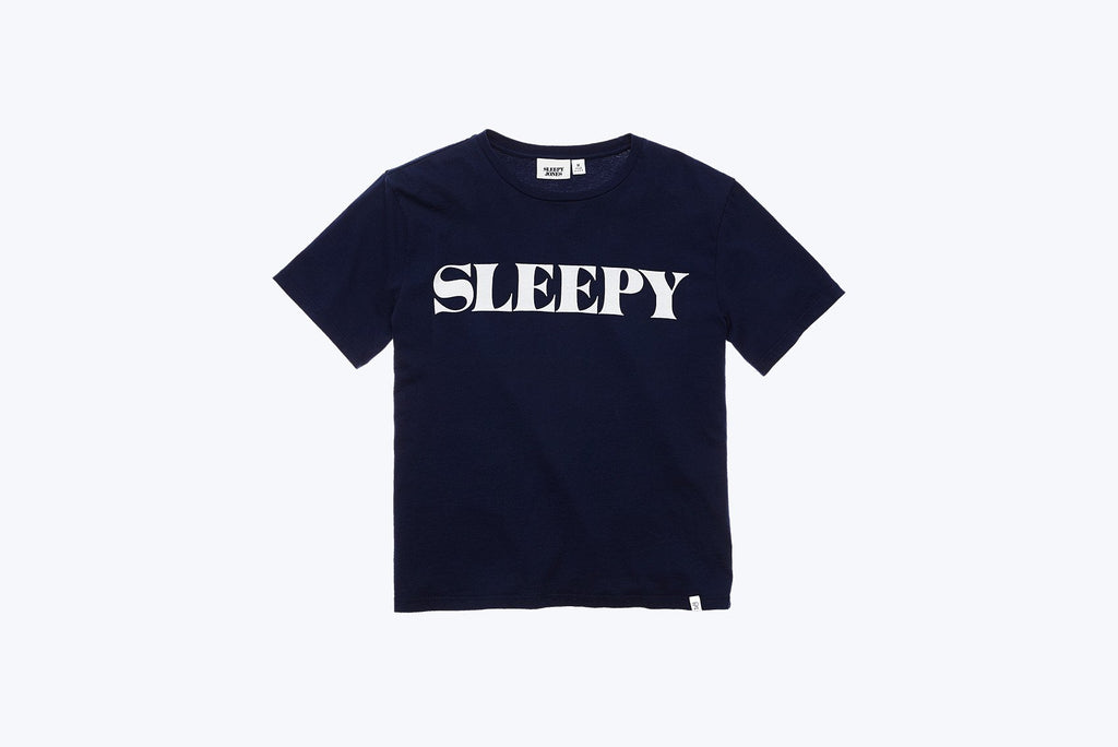 Sleepy Jones Logo T-Shirt in Navy